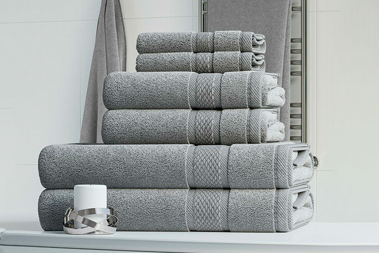 Image of £14.99 instead of £39.99 for a six-piece 100% pure cotton towel bale including two face cloths, two hand towels and two bath towels in your choice of 12 colours from Bliss Home Living – save 63%