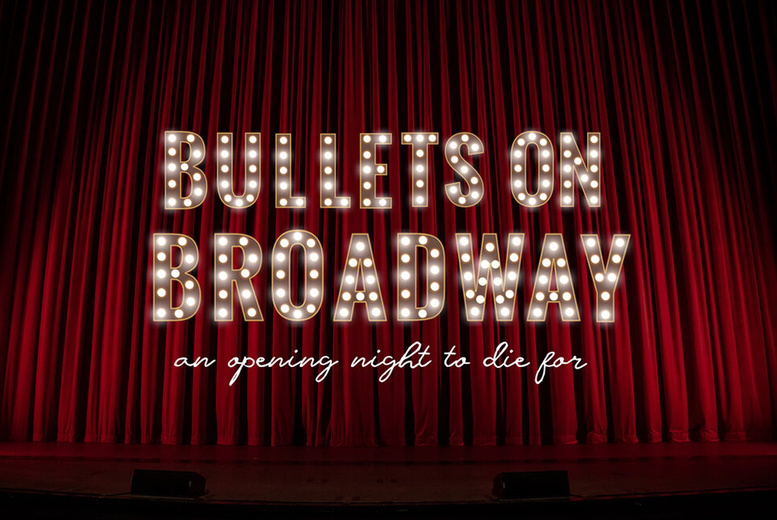 Image of £10 instead of £28.45 for a Bullets on Broadway Game from Broadway Murder Mysteries - download the game files, distribute among your friends, and uncover the truth of the murder behind the red curtain - save 65%