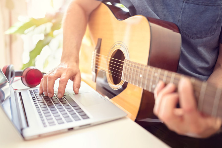 Image of £10 for two 30-minute private live music lessons online from Rhythm Room Music School - choose from four instruments or vocal and save 75%