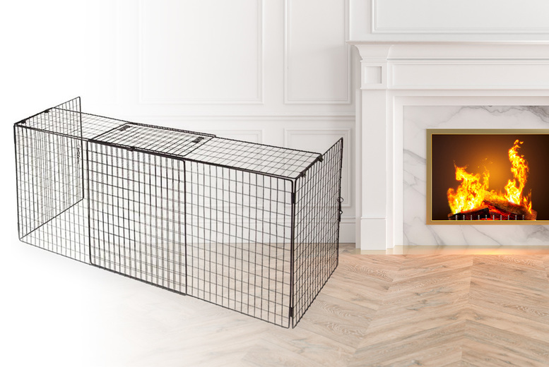 Image of £29.99 instead of £69.99 for an extendable nursery fireplace guard from Anything4Home - save 57%