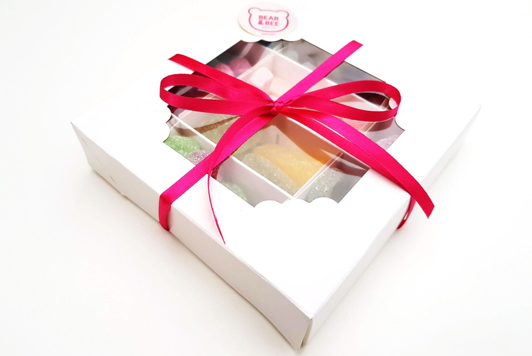 Image of £8 for a vegan or gluten free vegan gummy sweets gift box from Bear and Bee Sweet Co.