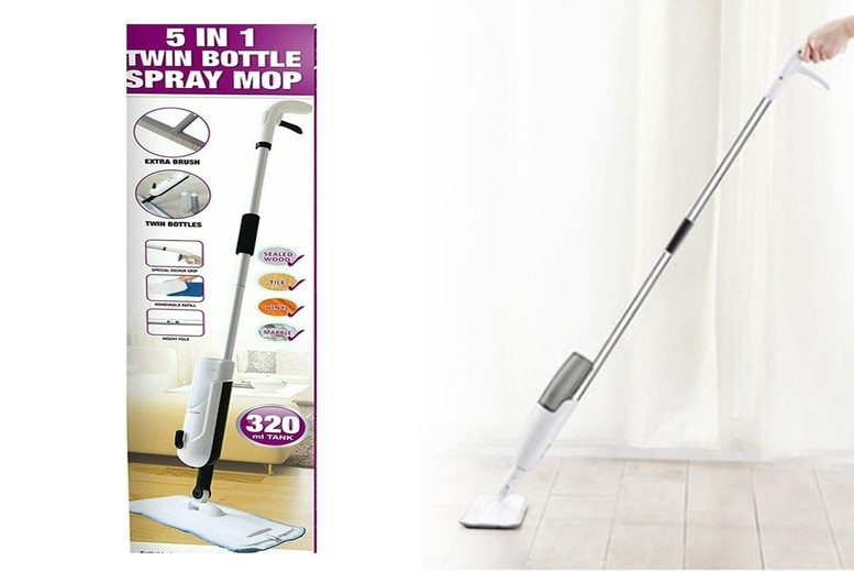 Image of £14.99 for a twin bottle spray mop from Eshaan!