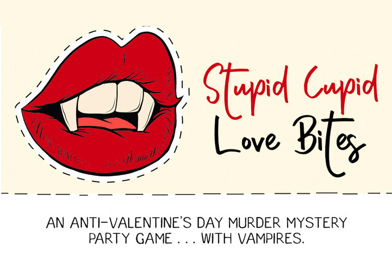 Image of £10 for a Stupid Cupid: Love Bites virtual murder mystery game from Broadway Murder Mysteries - download the game files, distribute among your friends, and uncover the truth of the murder