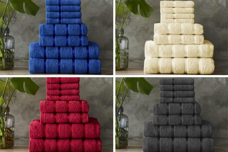 Image of £12.99 instead of £32.99 for an eight-piece towel bale set in nine gorgeous colours from Fusion Online - save 61%