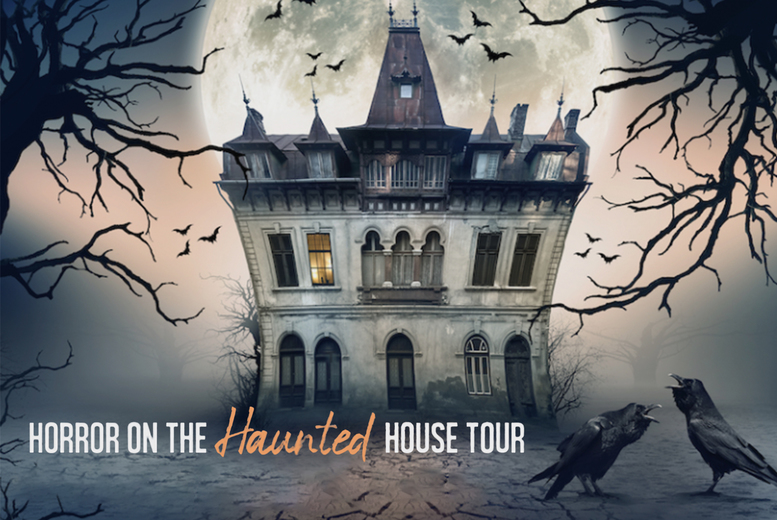 Image of £10 instead of £28.53 for a Horror on the Haunted House Tour virtual murder mystery game from Broadway Murder Mysteries - download the game files, distribute among your friends, and uncover the truth of the murder - save 65%