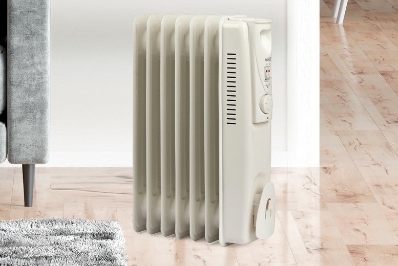 Image of £26.99 instead of £79.99 for a white 1500W oil filled radiator from Hirix - save 66%