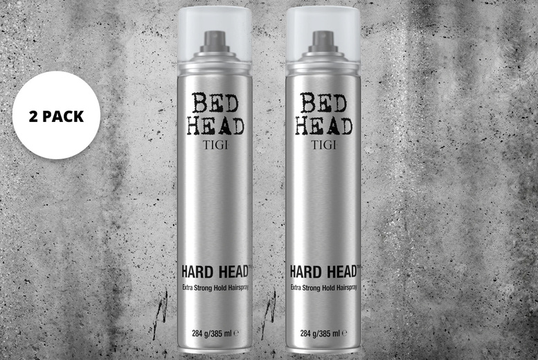 Image of £11.95 instead of £18.20 for a pack of two 385ml Bed Head by TIGI extra strong hold hairsprays from Avant Garde - save 34%