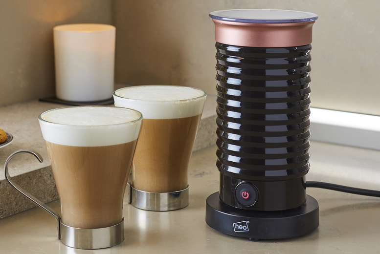Image of £28 instead of £49.99 for an electric milk frother and heater from Neo Deals - save 44%