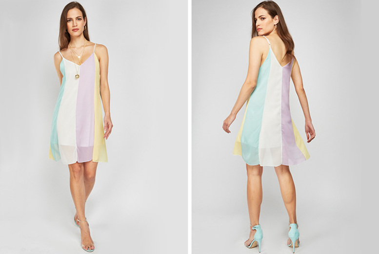 Image of £1.99 for a rainbow beach swing dress from Cascabelle - save 88%