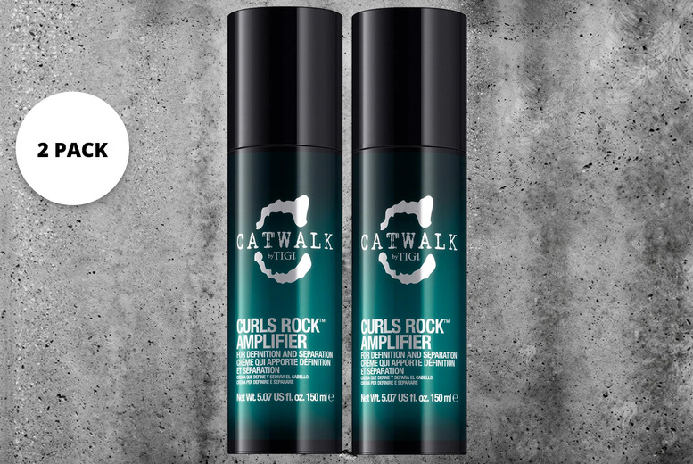 Image of £11 instead of £51.99 for a pack of two Catwalk by Tigi curls rock amplifiers 150ml from Avant Garde Brands – save 79%