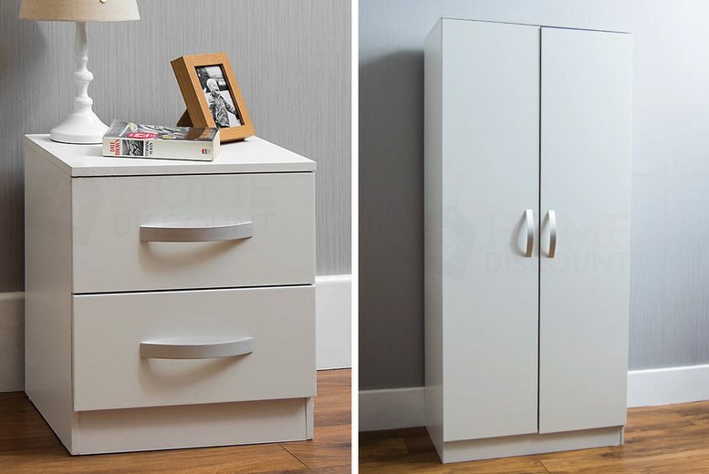 Image of From £19.99 instead of £47.99 for a piece of Vida Designs Hulio high gloss bedroom furniture from Home Discount - save up to 58%