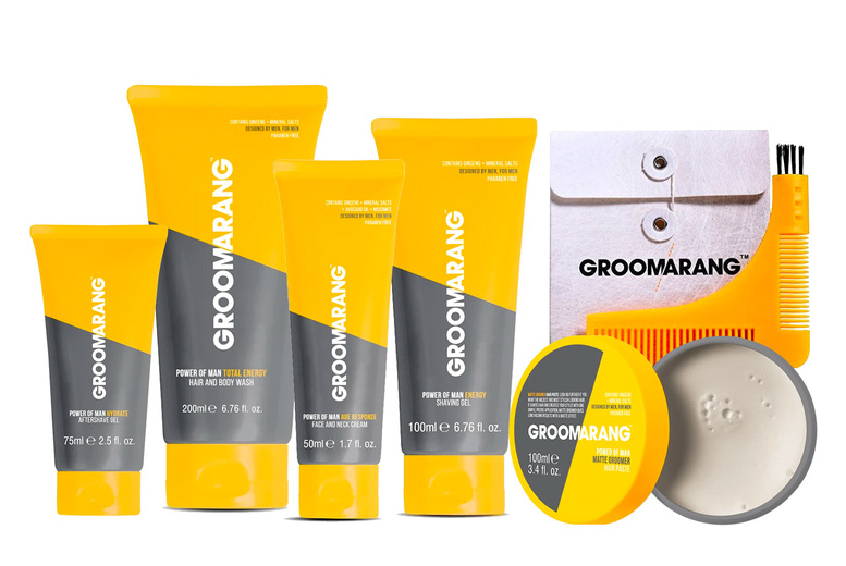 Image of From £16.99 instead of £46.96 for a men's Groomarang bundle including 'Total Energy' hair and body wash, 'Age Response' face cream and more from Groomarang – choose from a four, five or six-piece set and save up to 64%