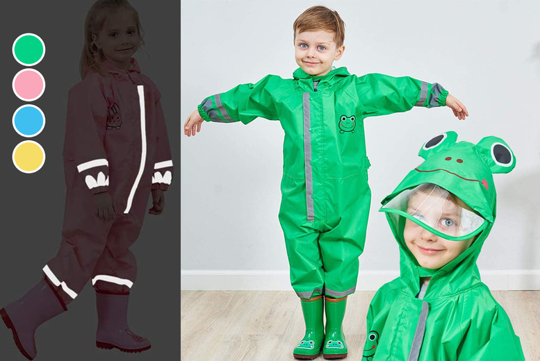 Image of £16.99 instead of £49.99 for a 3D waterproof kid's reflector onesie in blue, green, yellow or pink and in age sizes 2-4, 4-6 and 6-10 years from Fore Front Trading!