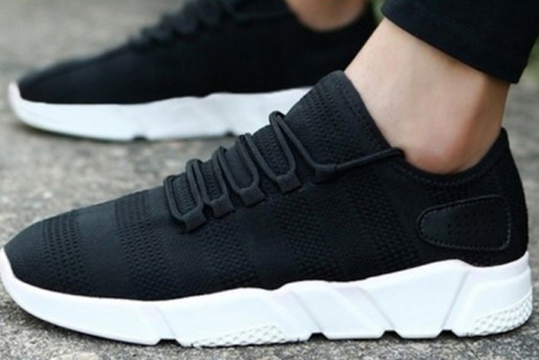Image of £9 for a pair of men's lace up running trainers in White or Black in UK sizes 8-11 from Evaniy!