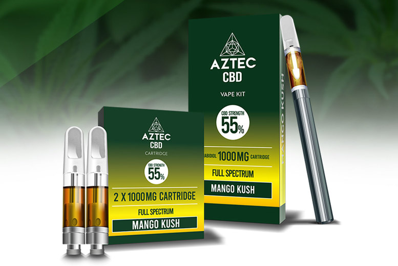 Image of £49.99 instead of £59.99 for a 55% CBD vaping kit or refills from Aztec Consult - save 17%