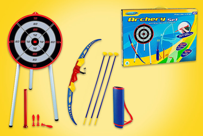 Image of £12 instead of £39.99 for a kids bow and arrow archery set from Eurotrade Ltd - save 70%