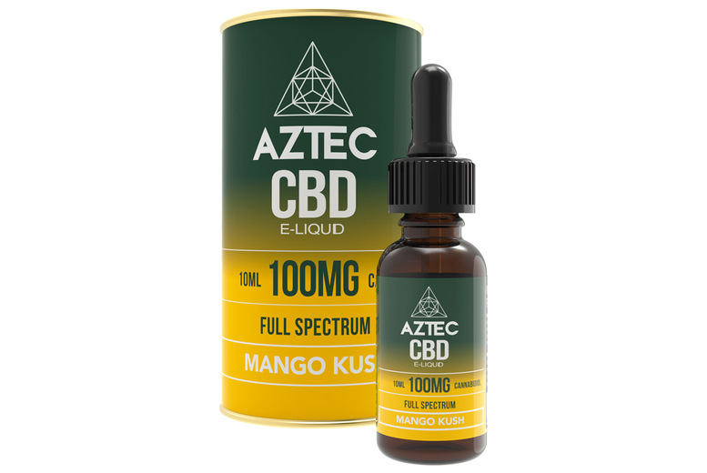 Image of £9.99 instead of £19.99 for a 100mg CBD E-liquid from Aztec!
