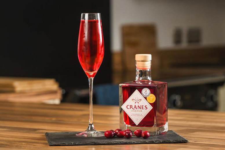 Image of £12.99 instead of £19.99 for a 500ml Cranes Cranberry & Blood Orange Liqueur with recipe cards from Cranes Drinks - save 35%
