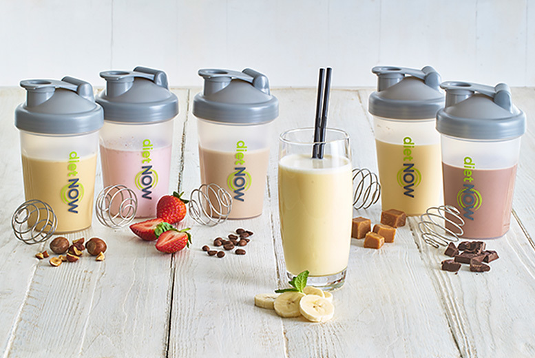 Image of £14.99 for a four-week 5:2 diet shake bundle, £29.99 for an eight-week bundle, £42.99 for 12 weeks from Diet Now