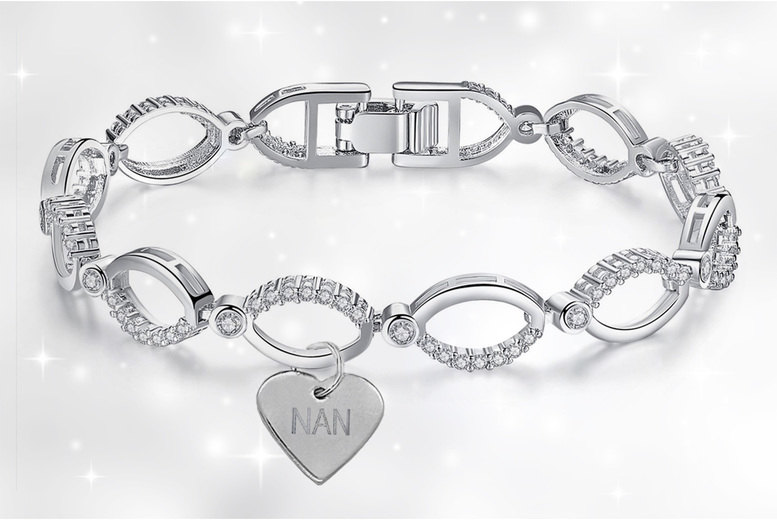 Image of £11.99 for an adjustable multi-link 'Nan' charm bracelet made with crystals from Swarovski ® from Gemnations