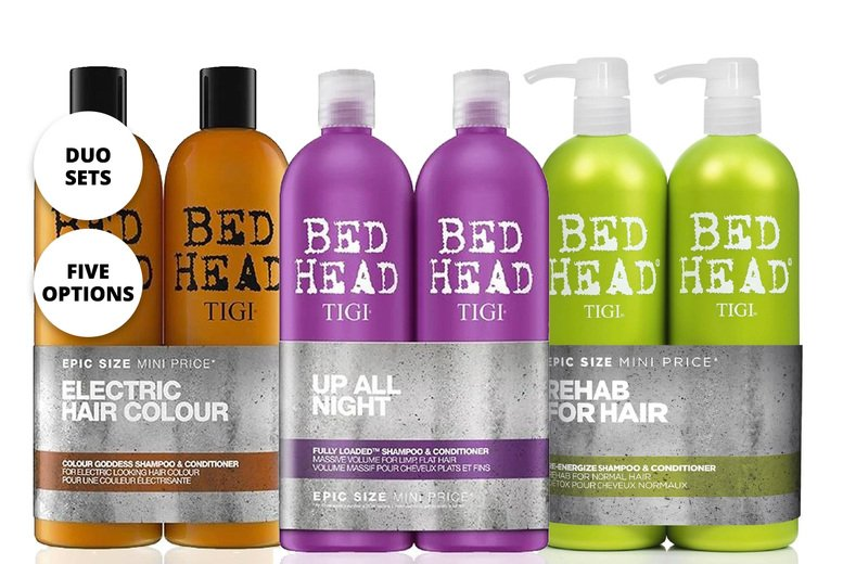 Image of £12.85 for a duo set of Tigi shampoo and conditioner from Avant Garde - save up to 42%