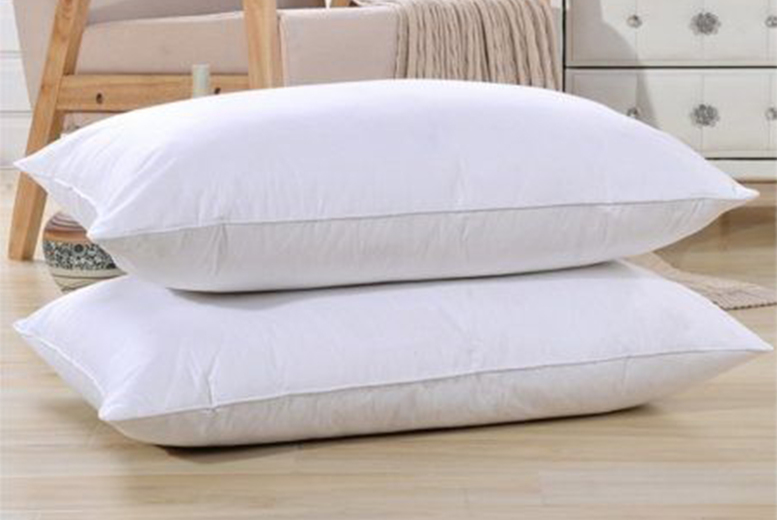 Image of From £16.99 instead of £40 for a pack of luxury duck feather pillows from Groundlevel - save up to 58%