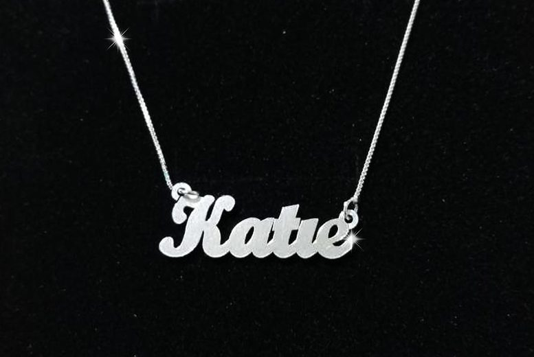 Image of £10.99 instead of £47 for a sterling silver personalised name necklace from My Name Chain - save 77%