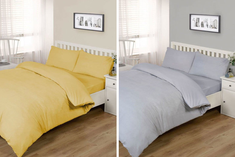 Image of £14.99 for a brushed cotton single duvet set, £16.99 for double, £22.99 for a king size from Cascade Home