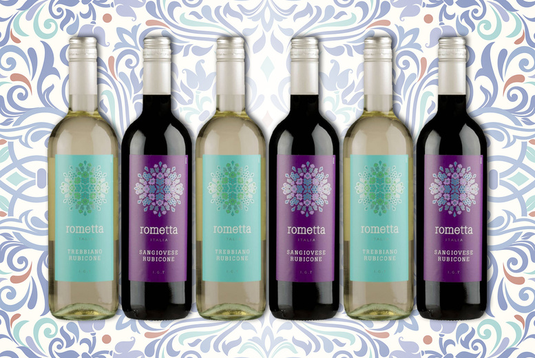 Image of £29.99 instead of £46.50 for six bottles of Italian red and white wine 75cl, £52.99 for 12 bottles from Great Wine – save up to 36%