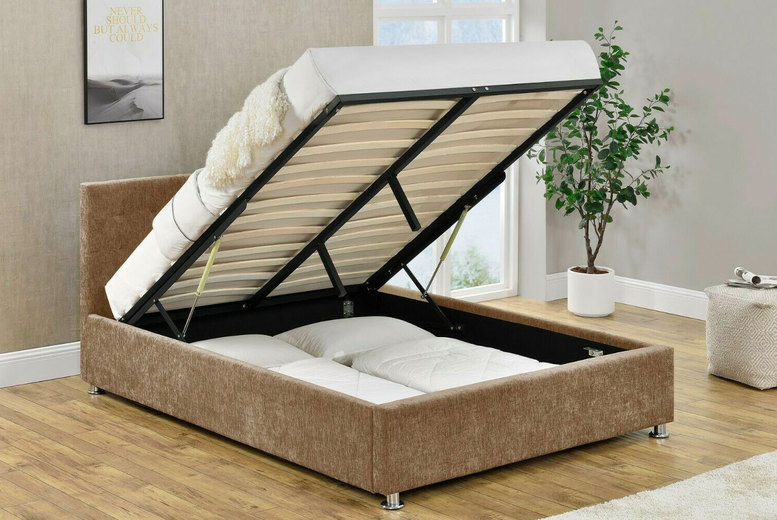 Image of From £199 instead of £319 for a double ottoman storage bed from Modish Furnishing - choose your mattress option and save up to 38%