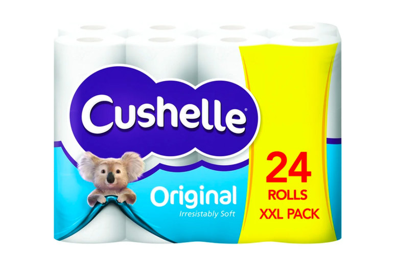 Image of £13.99 instead of £26.99 for a pack of 24 Cushelle Original toilet rolls from GMS-LTD - save 48%