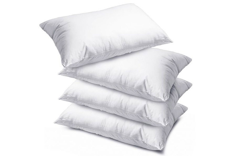 Image of £12.99 instead of £39.99 for a pack of four luxury deluxe pillows from Fusion Online - save 68%