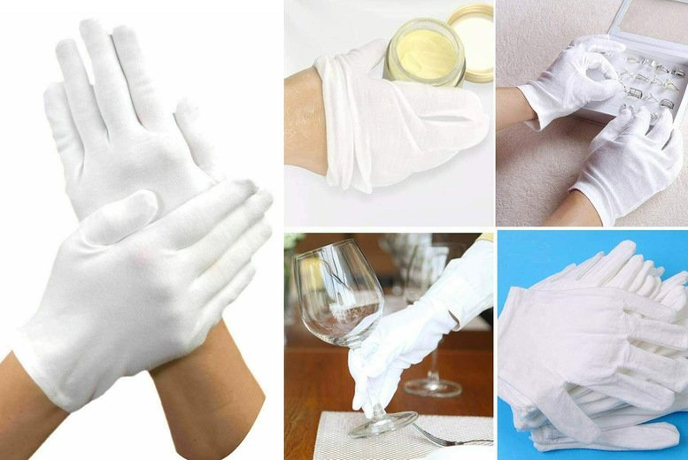 Image of £1.99 instead of £19.99 for two pairs of cotton moisture gloves from Vivo Mounts - save 90%