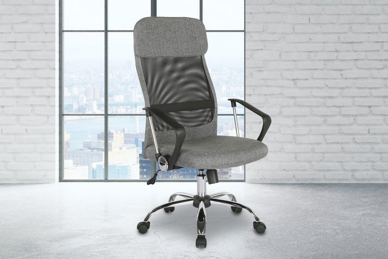Image of £159 instead of £599 for a grey Choto office chair from Envisage Home - save 73%
