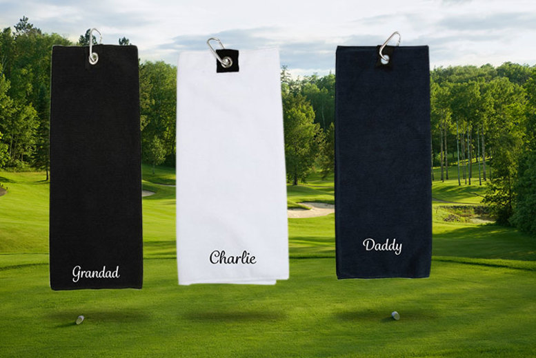 Image of £10.99 for a personalised embroidered golf towel from Carrera Personalised Gifts