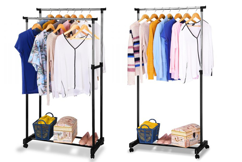 Image of £11.99 instead of £39.99 for a single clothing rack or £16.99 for a double rack from Fusion Online - save up to 70%