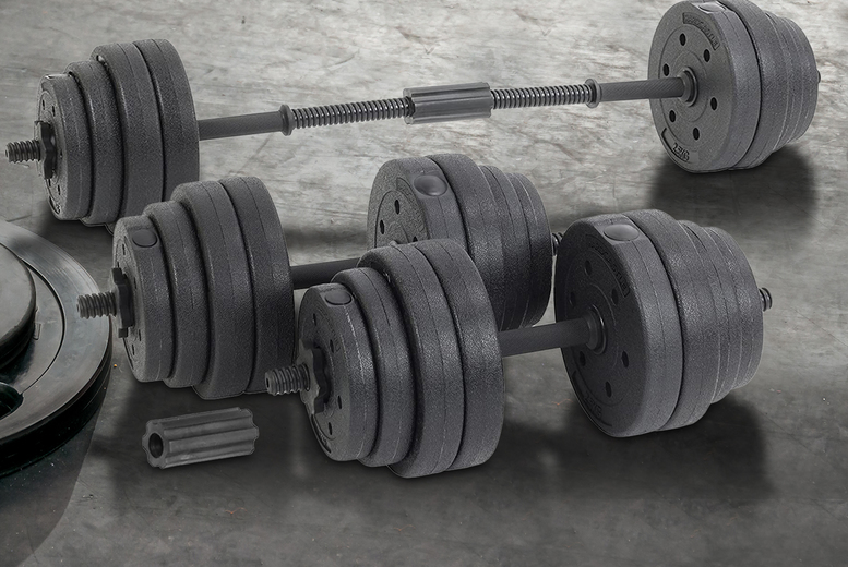 Image of £59.99 instead of £199 for a 16-piece adjustable dumbbell set from Hirix! - Save 70%