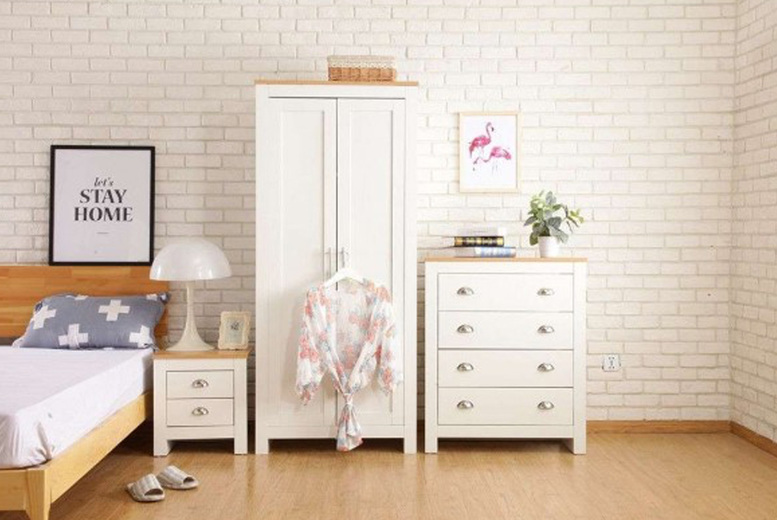 Image of From £179 instead of £325.99 for a two-door and two drawer wardrobe from Dreams Outdoors - save up to 45%