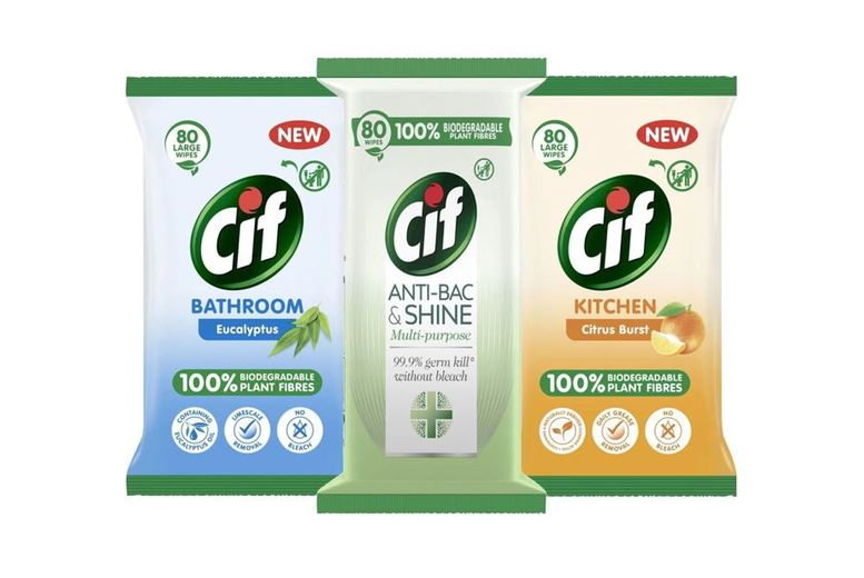 Image of From £6.49 for 3 Packs of Cif Power & Shine Multipurpose Wipes - 80 Sheets! from Avant-Garde Brands Ltd - save up to 54%