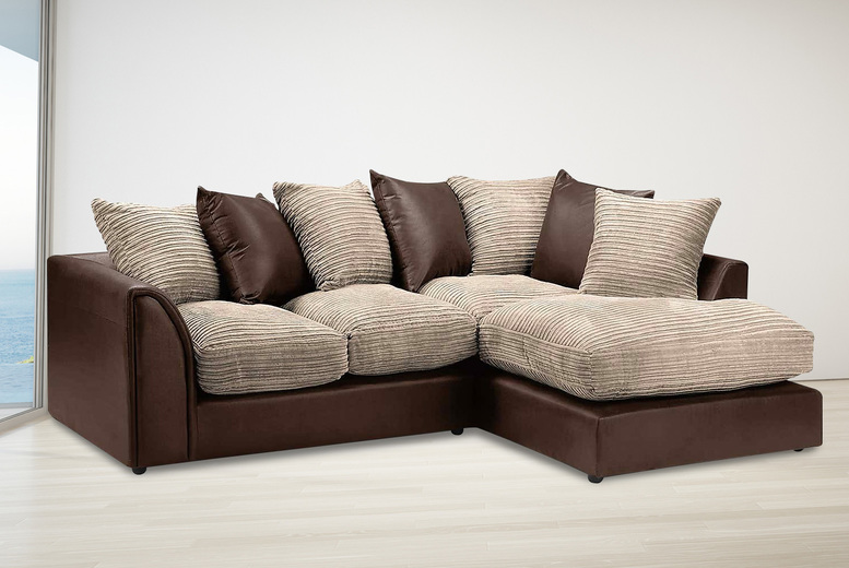 Image of From £379 for a two-tone Evina sofa from Envisage Home - save up to 81%