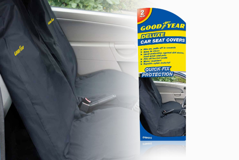 Image of £12.99 instead of £29.99 for Goodyear waterproof car seat covers from Vivo Mounts - save 57%