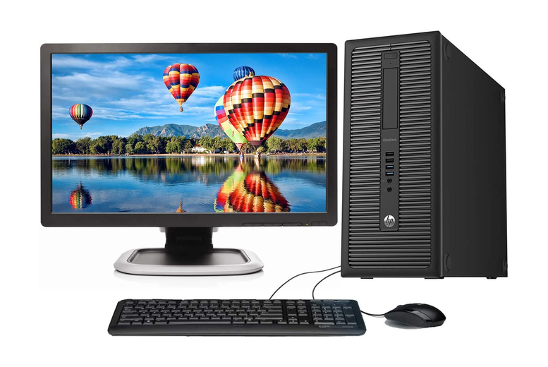 Image of £199 instead of £299.99 for a refurbished HP EliteDesk 800 G1 without a monitor or £269 a refurbished HP EliteDesk with a monitor from Renewed Computers!