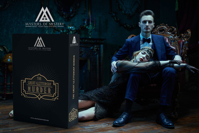 Image of £9 instead of £24.99 for 1920s virtual murder mystery event game kit from Masters of Mystery - save 64%