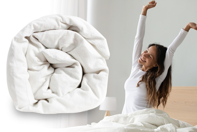 Image of From £12.99 instead of £20.95 for a 13.5 tog fresh poly cotton duvet from Love2Sleep - choose your size from single, double, king or super king - save 38%