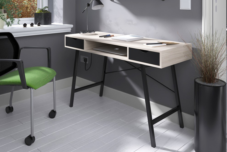 Image of £154 instead of £799 for a computer desk with two drawers from Envisage Home - save 81%