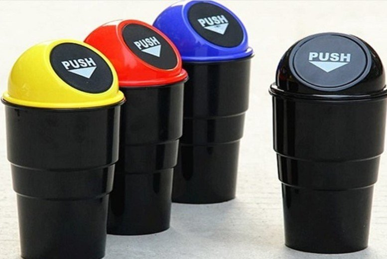 Image of £3.99 instead of £19.99 for a Car Cup-holder Trash Can from ViVo Technologies - save 80%