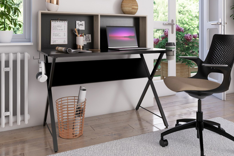 Image of £199 instead of £799 for a hutch computer desk from Envisage Home - save 75%