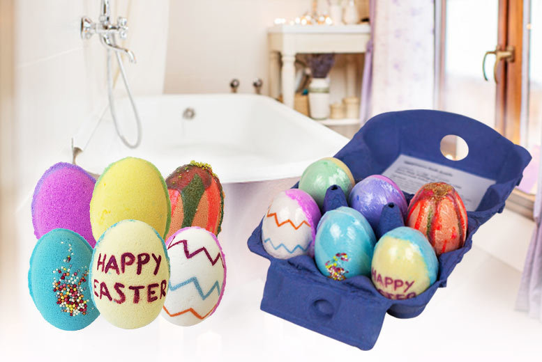 Image of £7.99 instead of £29.99 for a six pack of Easter egg bath bombs from Bathtime Boutique Ltd - save 73%