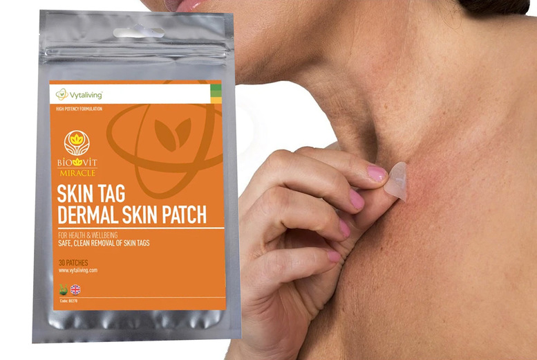 Image of £4.98 instead of £19.99 for a pack of 30 biodermal skin tag patches from Vytaliving - save 75%