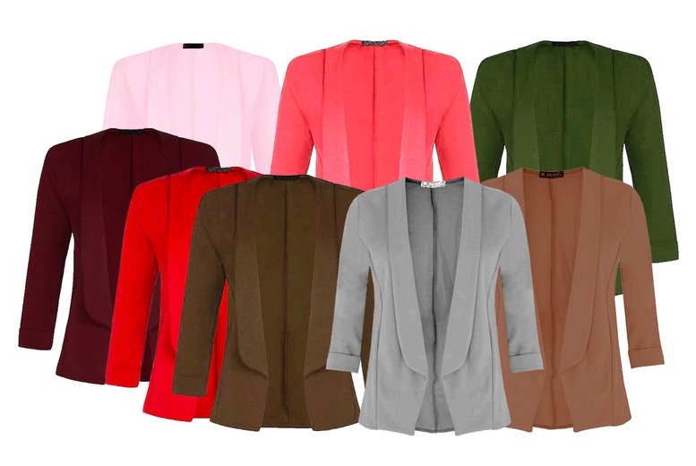 Image of £11.99 instead of £15 for a cropped sleeve blazer from BeJealous - save 20%